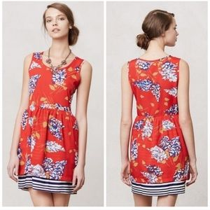 Anthropologie Porridge Petaluma peep hem dress